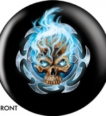 Flaming Blue Skull OTBB-GRA-0004