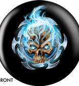 Flaming Blue Skull OTBB-GRA-0004