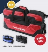 Pro Bowl 3-ball Triple Tote w/shoe bag