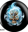 kula bowlingowa - Flaming Blue Skull OTBB-GRA-0004