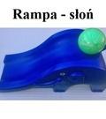 Słoń - rampa do rzucania dla dzieci - Elephant Ramp blue, pink